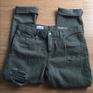 GAP Distressed Girlfriend jeans